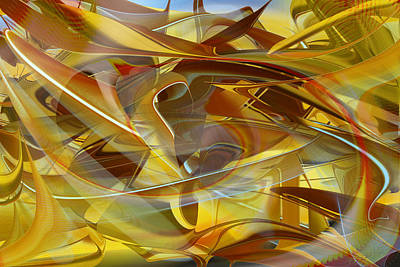 Digital Art - Abstract Number Sixteen by rd Erickson