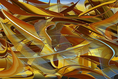 Digital Art - Untitled Abstract Number Thirteen by rd Erickson