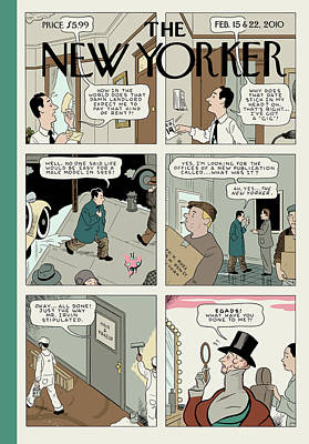 Painting - New Yorker February 15th, 2010 by Adrian Tomine