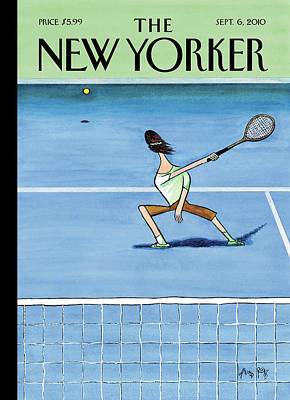 Tennis Painting - New Yorker September 6th, 2010 by Arnold Roth