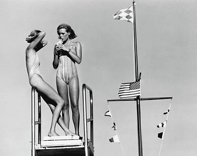 Bathing Suit Photograph - Vogue June 1st, 1976 by Arthur Elgort