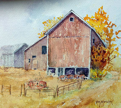 Painting - Untitled Barn by Ken Marsden