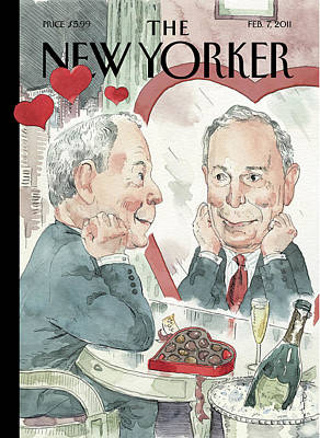Bloomberg Painting - New Yorker February 7th, 2011 by Barry Blitt