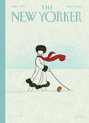 Winter Painting - New Yorker March 1st, 2010 by Brian Stauffer