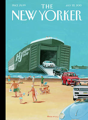 Hamptons Painting - New Yorker July 22nd, 2013 by Bruce McCall