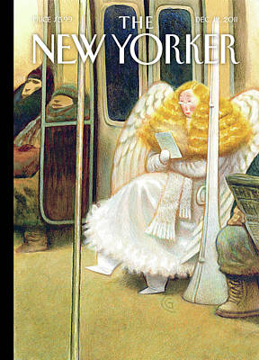 Angels Painting - New Yorker December 12th, 2011 by Carter Goodrich