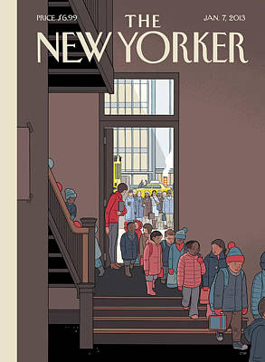 Painting - New Yorker January 7th, 2013 by Chris Ware