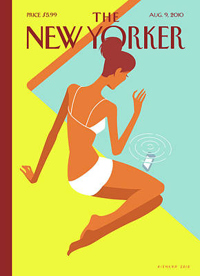 Swimming Painting - New Yorker August 9th, 2010 by Christoph Niemann
