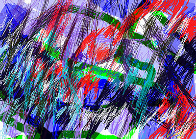 Abstract Expressionism Digital Art - Untitled Drawing by Paul Sutcliffe