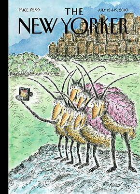 Bed Painting - New Yorker July 12th, 2010 by Edward Koren