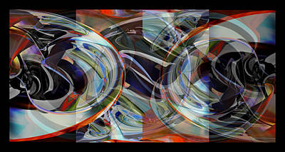 Digital Art - Untitled Frame - Abstract by rd Erickson