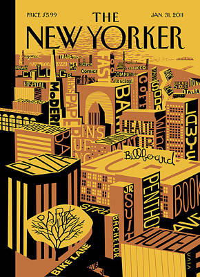 Mental Painting - New Yorker January 31st, 2011 by Frank Viva