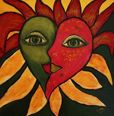 Painting - Heart Face by Gitta Brewster