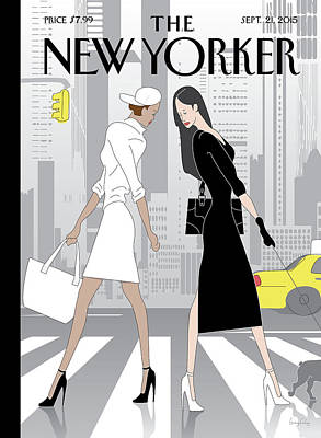 Fashion Painting - New Yorker September 21st, 2015 by Greg Foley