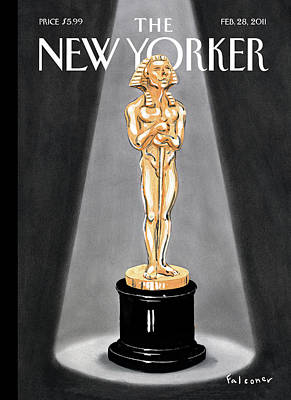 Oscar Painting - New Yorker February 28th, 2011 by Ian Falconer