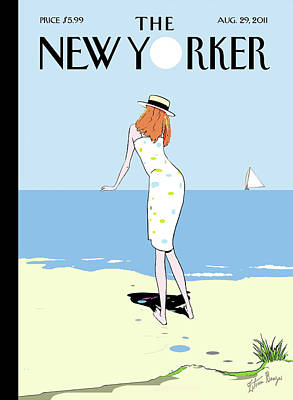 Sailboat Painting - New Yorker August 29th, 2011 by Istvan Banyai