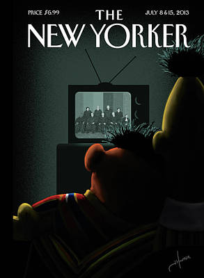 July 2013 Painting - New Yorker July 8th, 2013 by Jack Hunter