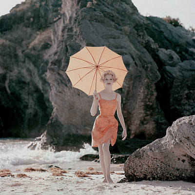 Bathing Suit Photograph - Vogue January 1st, 1959 by Jerry Schatzberg