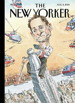 Selfie Painting - New Yorker August 5th, 2013 by John Cuneo