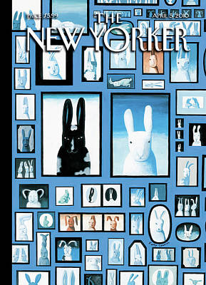 Easter Bunny Painting - New Yorker April 5th, 2010 by Kathy Osborn