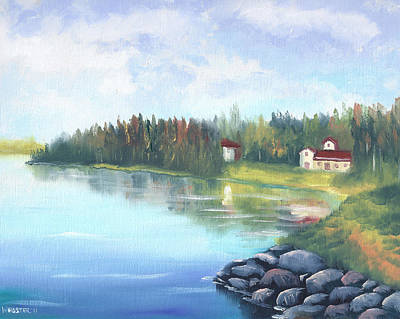 Untitled Landscape Oil Painting Art Print by Mark Webster