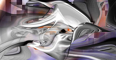 Digital Art - Untitled Lavender by rd Erickson