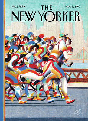 Winter Painting - New Yorker November 8th, 2010 by Lorenzo Mattotti