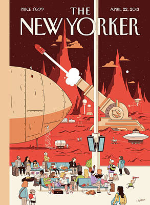 Travel Painting - New Yorker April 22nd, 2013 by Luke Pearson