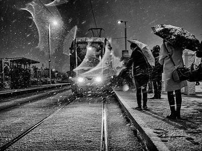 Snowfall Photograph - Untitled by Maciej Przeklasa