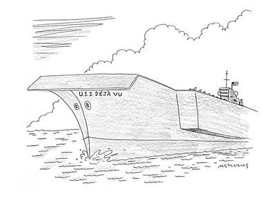 Iraq Drawing - U.s.s. Deja Vu by Mick Stevens