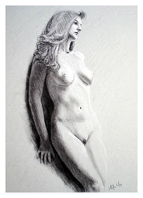 Joe Ogle Painting - Untitled Nude by Joseph Ogle