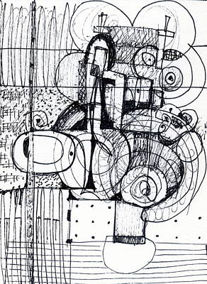 Drawing - Steampunk - Drawing 1 by Stephen Lucas