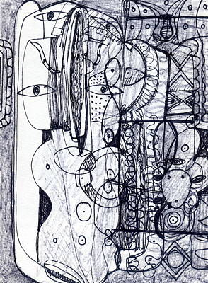 Drawing - Steampunk - Drawing 3 by Stephen Lucas