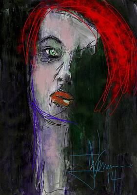 Digital Art - untitled portrait Aug 30 2014 by Jim Vance