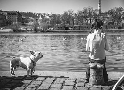 Pond Photograph - Untitled - Prague by Cory Dewald