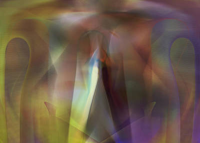 Digital Art - Untitled Purple Abstract by rd Erickson