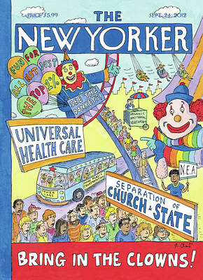 President Painting - New Yorker September 24th, 2012 by Roz Chast