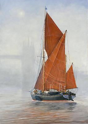 Untitled Sailing Barge 1 Art Print