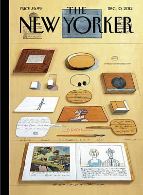 New Yorker December 10th, 2012 Art Print by Saul Steinberg