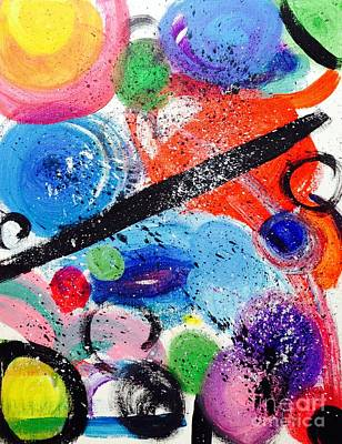 Abstract Poster Painting - Untitled by Shawnic Coles