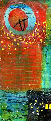 British Abstract Art Painting - Summer Heat by Shuya Cheng