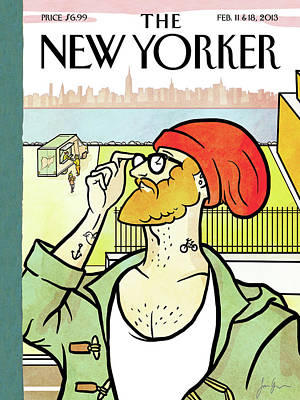 Hip Painting - New Yorker February 11th, 2013 by Simon Greiner