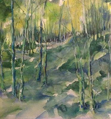 Arkansas Painting - Untitled Swamp  by Robin Miller-Bookhout