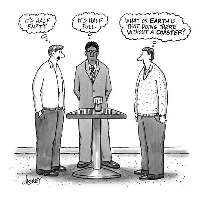 Pessimist Drawing - New Yorker October 10th, 2016 by Tom Cheney