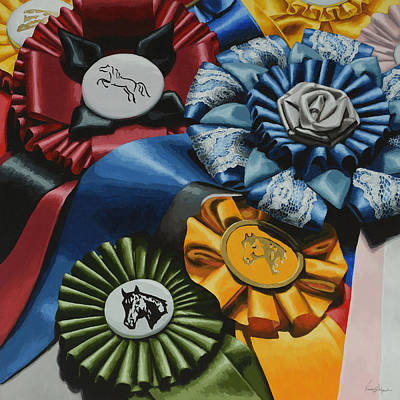 Show Horse Painting - Untittled by Lesley Alexander
