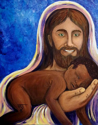 Unto You A Godly Son Is Given Art Print by Pamorama Jones