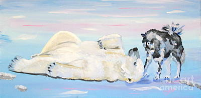 Painting - Unusual Buddies  Must Open by Phyllis Kaltenbach