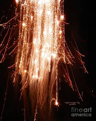 Digital Art - Unusual Colorful Fireworks by Angelia Hodges Clay