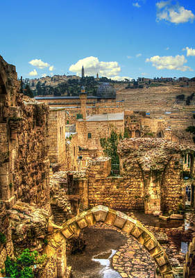 Painting - City Of David, Jerusalem by Doc Braham