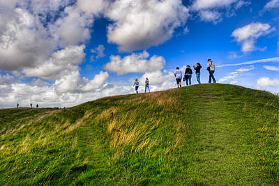 Photograph - Unwritten Future - The Mound At Avebury by Mark E Tisdale